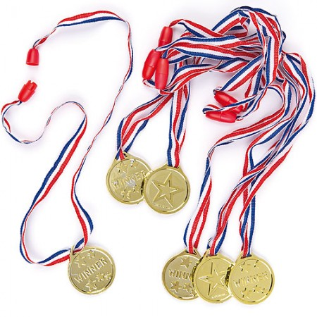 Gold Winners medals