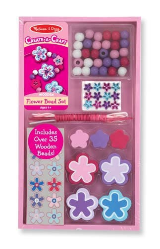 Wooden Flower Bead Set