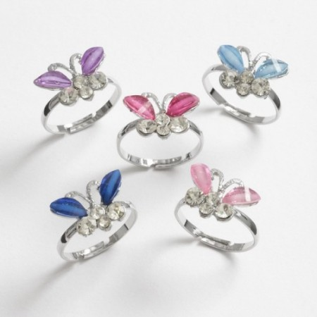 Butterfly Diamante Ring
