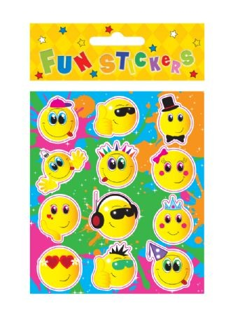 Fun Stickers - Smiley Faces Party Bag Filler