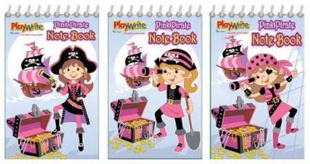 Pink Pirate Notebook Party Bag Filler