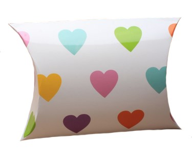 Pastel Heart Print Pillow Gift Box