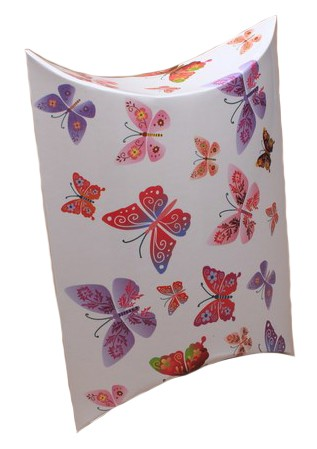 Pastel Butterfly Print Pillow Gift Box