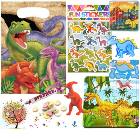Dinosaur pre filled party bag - contents