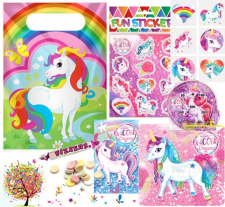 Unicorn pre filled party bag - contents