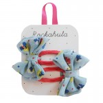 Duck Egg Blue Ditsy Bow Clips - Rockahula