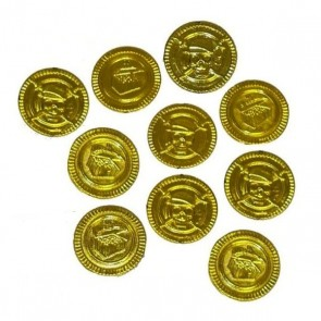Gold Coins - Pirate Treasure - set of 10 coins Party Bag Filler