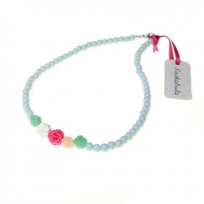 Eau-de-nil Flower Cluster Necklace - Rockahula