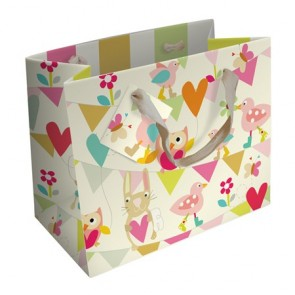 Caroline Gardner Girls Bunting And Flowers Gift Bag