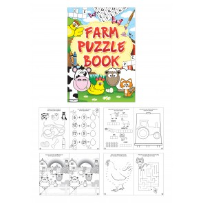 Farm Fun Puzzle Book