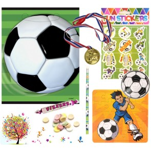 Football pre filled party bag - contents