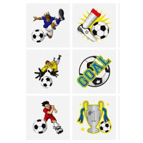 Set of 6 Football Tattoos