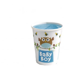Little Owl Baby Boy Party Cups