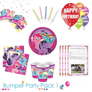 My Little Pony Party Tableware Bumper Pack 1