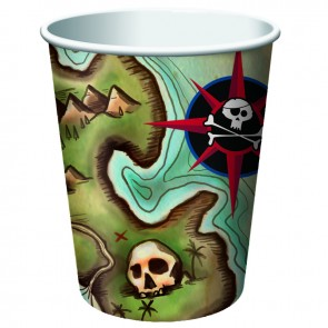 Pirate's Map Party Cups