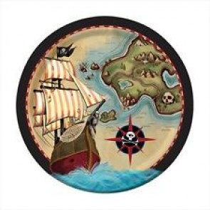 Pirate's Map Party Plate