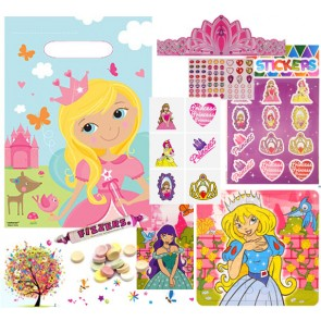 Princess pre filled party bag - contents