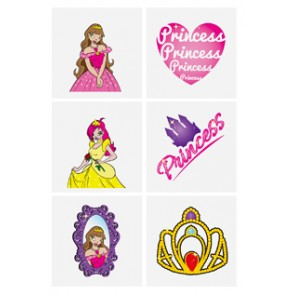 Set of 6 Princess Tattoos