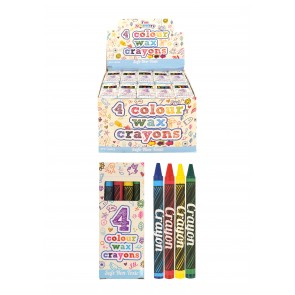 Pack of 4 Wax Crayons