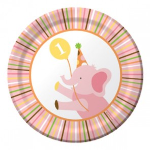 Sweet at 1 Girl Party Plate