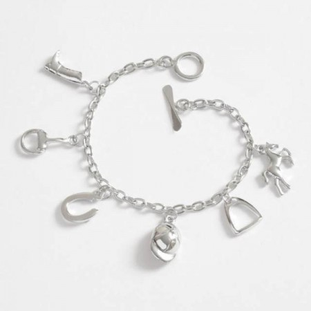 Horse Riding Themed Charm Bracelet