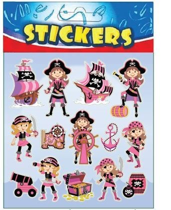 Pink Pirate Stickers Party Bag Filler