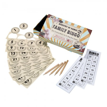 Ministry Of Games Family Bingo Party Game