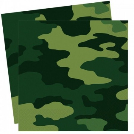 Army Camouflage Party Napkins