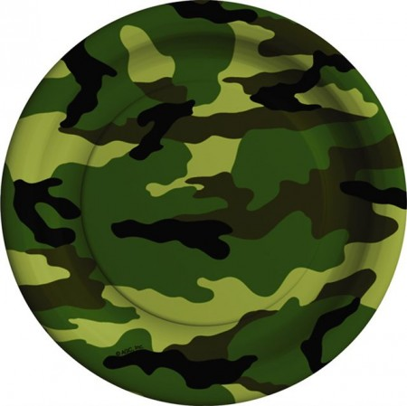 Army Camouflage Party Plate