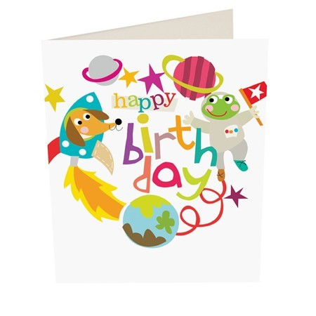 Caroline Gardner Happy Birthday Space Boy Birthday Card