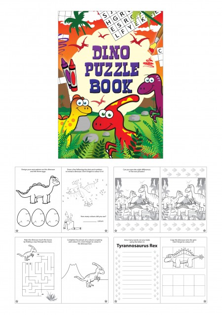 Dinosaur Fun Puzzle Book