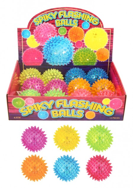 Flashing Spikey Light Up Soft Ball