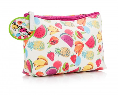 Fruit Patterned Beauty Bag