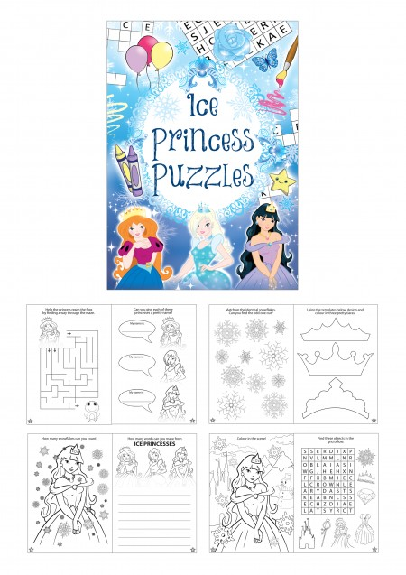 Ice Princess Fun Puzzle Book