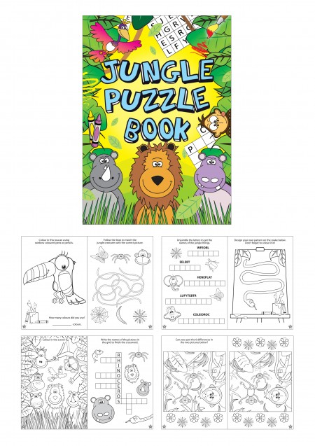 Jungle Fun Puzzle Book