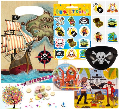 Pirate pre filled party bag - contents