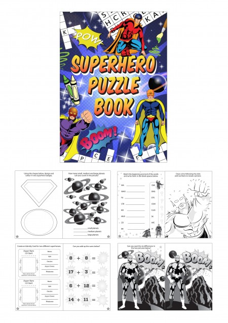 Superhero Fun Puzzle Book