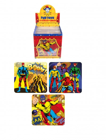 Jigsaw - Superhero design card Jigsaw