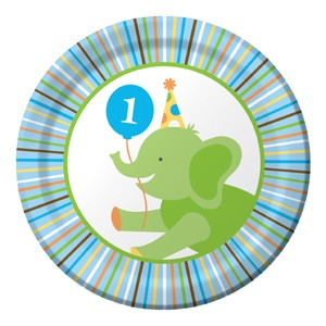 Sweet at 1 Boy Party Plate