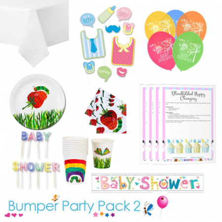 The Hungry Caterpillar Baby Shower Party Tableware Bumper Pack 2