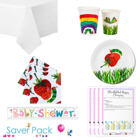 The Hungry Caterpillar Baby Shower Party Tableware Saver Pack