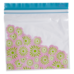30 Medium Zip lock Bags - Casablanca Prints (Pink)