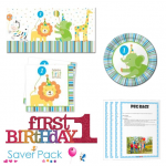 Sweet at 1 Boy 1st Birthday Party Tableware Saver Pack