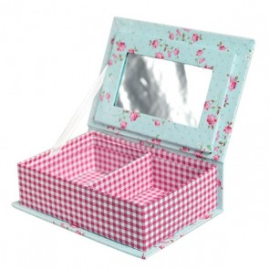 Red Gingham Jewellery Box