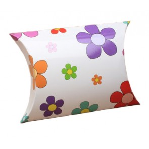 Pastel Flowers Print Pillow Gift Box
