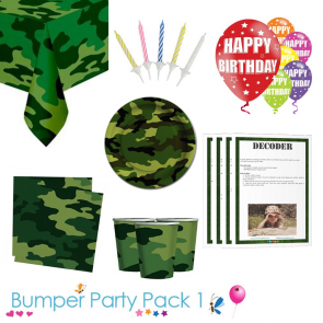 Army Camouflage Party Tableware Bumper Pack