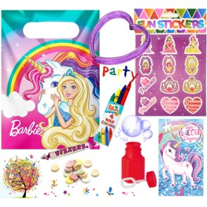 Barbie Dreamtopia pre filled party bag - contents