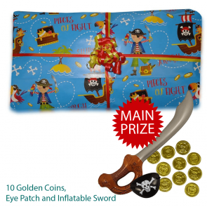 Captain Jack The Pirate Pass The Parcel - Parcel And Main Prize