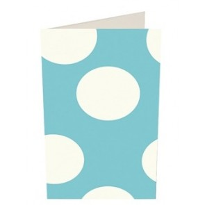 Caroline Gardner Blue Spotty Gift Card