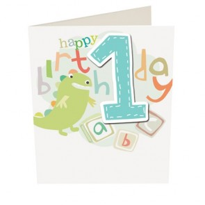 Caroline Gardner Happy Birthday Boy Age 1 Birthday Card